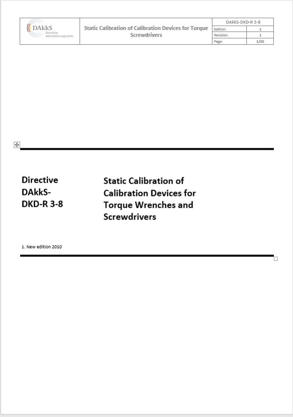 Directive DAkkS-DKD-R 3-8: 2010 and the calibration certificate