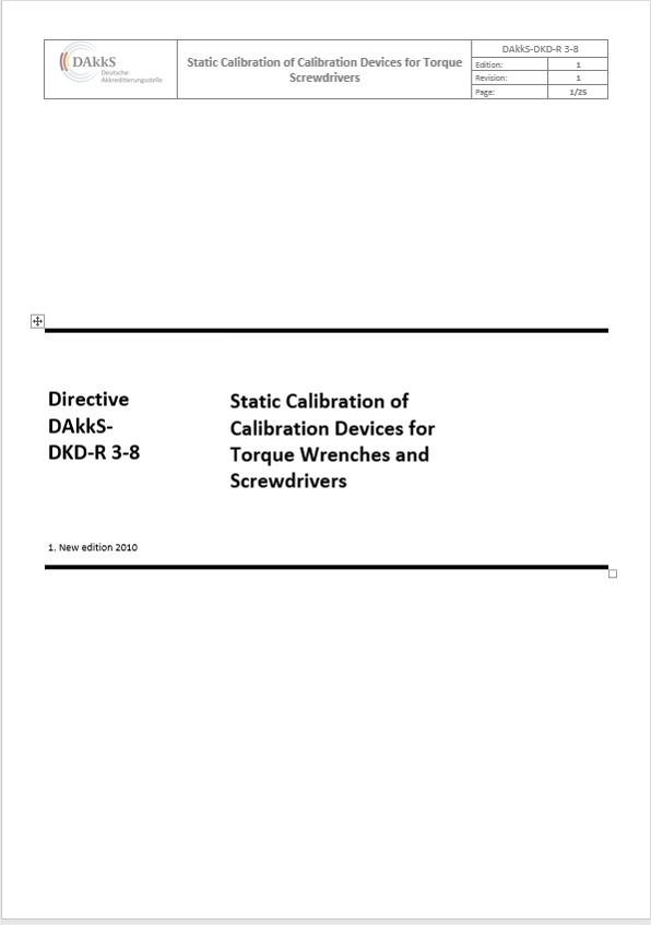 Richtlinie DAkkS-DKD-R 3-8: 2010 und das Kalibrierzertifikat