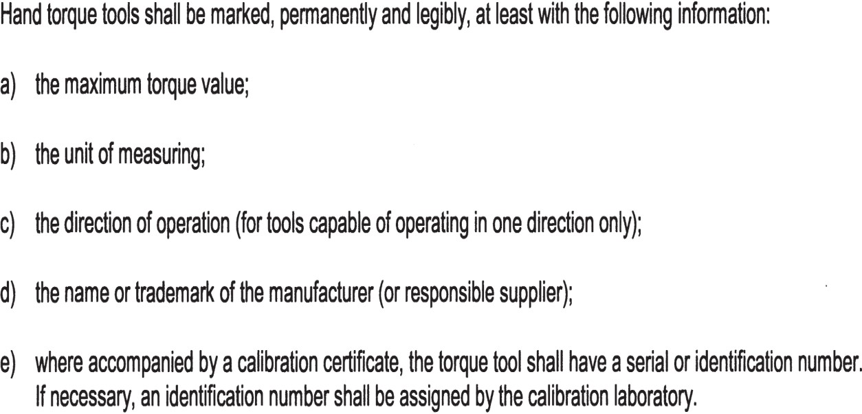Directive ISO 6789: 2003 and the calibration certificate