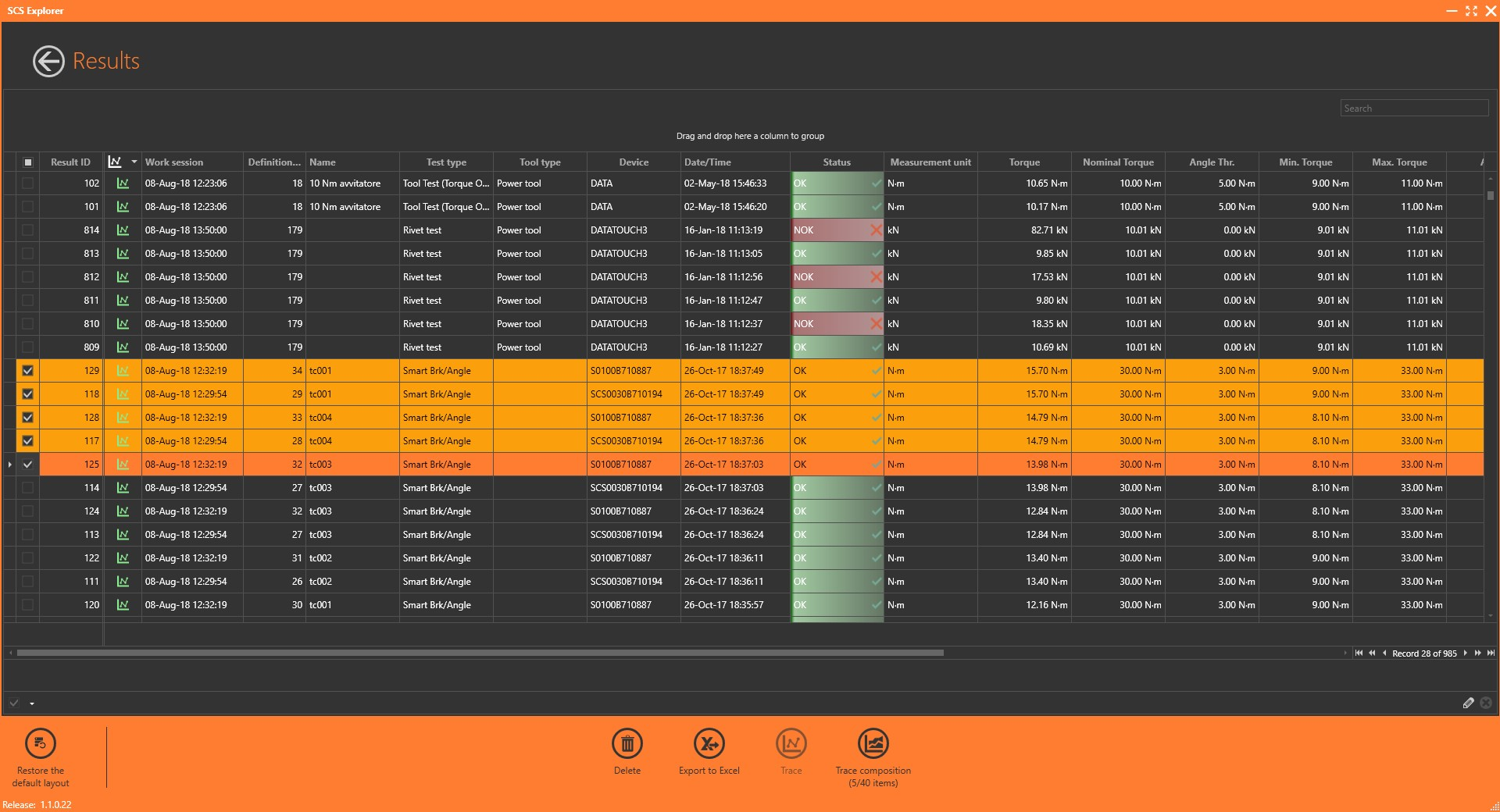 SCS Explorer - Programar y descargar datos de instrumentos SCS